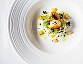 Scallops with fennel and melon