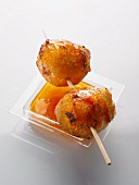Goat's cheese fritters with chilli sauce