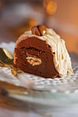 Chestnut roulade with chocolate