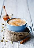 Chai tea with cinnamon and honey