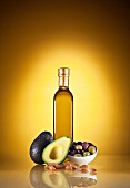 Mediterranean Ingredients; Oil, Avocado, Olives and Almonds