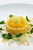 Orange couscous with fennel and apple