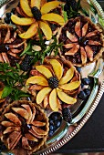 Mixed Berry Tarts on a Silver Tray