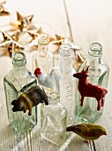 Christmas Decorations & empty bottles