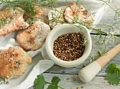 Coriander seeds and coriander bread