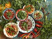 Salsa auf verschiedene Arten