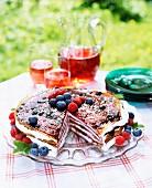 A dessert cake.