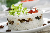 Rice with dried fruit and olives