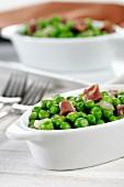 Peas with smoked ham (Spain)