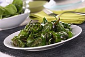 Pimientos de padron (roasted green peppers)