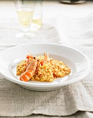 Saffron risotto with crustaceans