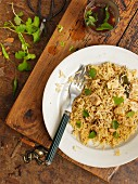 Pilau with chicken and coriander