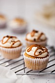 Caramel Butter Cream Cup Cake with a caramel centre