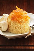 Steamed pudding with brandy and marmalade (England)