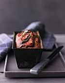 Red wine cake with shallots and sage