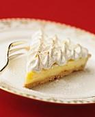 A slice of lemon meringue pie