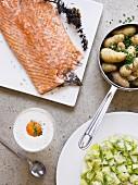 Salmon and new potatoes