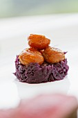 Red cabbage with glazed chestnuts