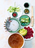 Chinese fondue with pineapple dip
