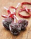 Three chocolate lollipops