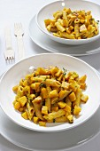 Pasta con la zucca Caption-Abstract
