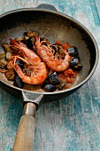 Crayfishes with aubergines, Orestorante restaurant, Ponza island, Lazio, Italy