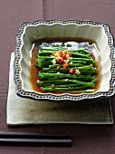 Steamed long beans in stock
