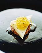 A cheese canapé