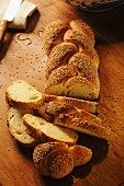 Sicilian bread with sesame seeds, Sicily, Italy, Europe