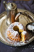 Apple Bundt cake with icing sugar