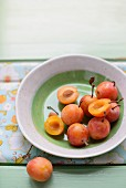 Mirabelle plums in a bowl