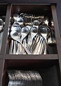 Cutlery in a cutlery tray