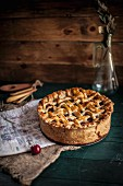 A Rustic Balsamic Cherry Pie