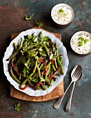 Green bean and red pepper stir fry