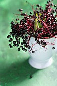 Elderberries in a cup