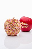 Pink Lady apples with sprinkles