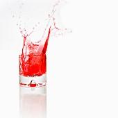 Red water splash