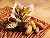 Mixed Fingerling Potatoes - Raw and Steak Fries