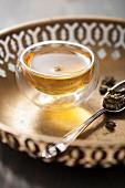 Tea in a glass bowl