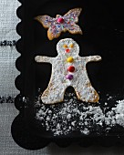Sable biscuits (snowman, butterfly) for Christmas