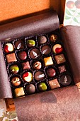 A Box of Assorted Gourmet Chocolates