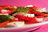 Insalata caprese (tomato salad with mozzarella and basil)