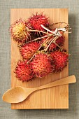 A bunch of rambutans