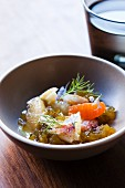 Dungeness Crab with Winter Citrus in a Bowl