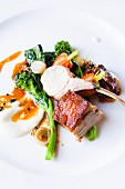 Pork with Greens and Carrots