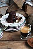 Moelleux Au Chocolat mit Kaffee zu Weihnachten