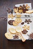 Biscuits and wafer spoons for Christmas