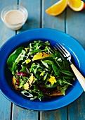 Orange salad with seaweed