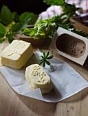 Butter aus dem Holzmodel