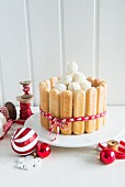 Charlotte with white chocolate truffles for Christmas